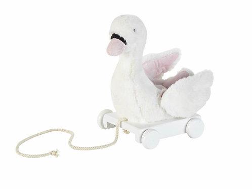 La petite surprise Couture - Nachzieh-Schwan weiß-rosa