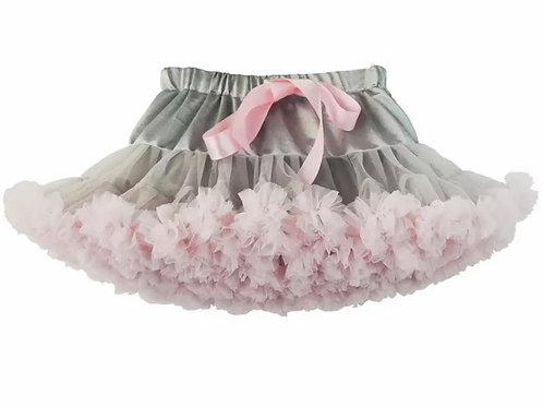 La petite surprise Couture Tütürock Grau-Rosa