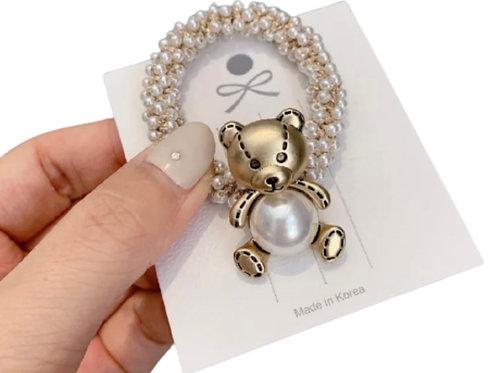 La petite surprise Couture Haargummi Perlen Teddy
