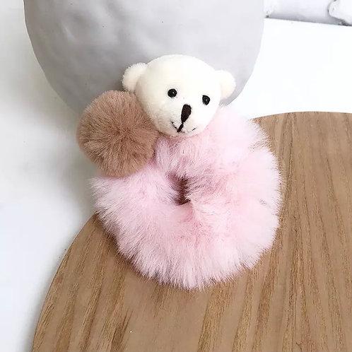 La petite surprise Couture Plüsch Scrunchie Teddy Hellrosa
