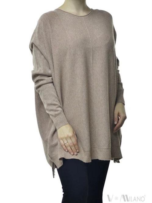 V Milano - Pullover Dulcie Oversize Schlamm