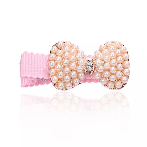 La petite surprise Couture Girly Haarspange Schleife Perlen