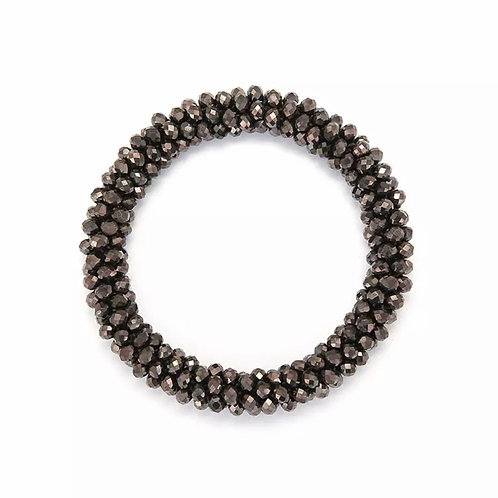 La petite surprise Couture Crystal Haargummi / Armband Hematite