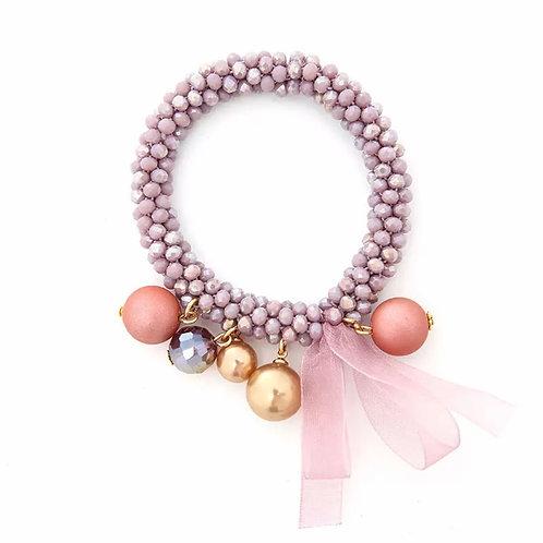 La petite surprise Couture Crystal Haargummi / Armband Flieder