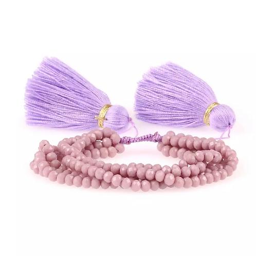 La petite surprise Couture Boho Armband Mauve