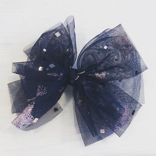 La petite surprise Couture Haarspange Schleife Marine