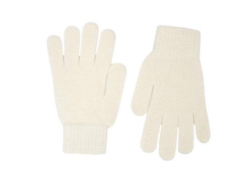 Zwillingsherz - Handschuhe 100% Cashmere Uni Wollweiß