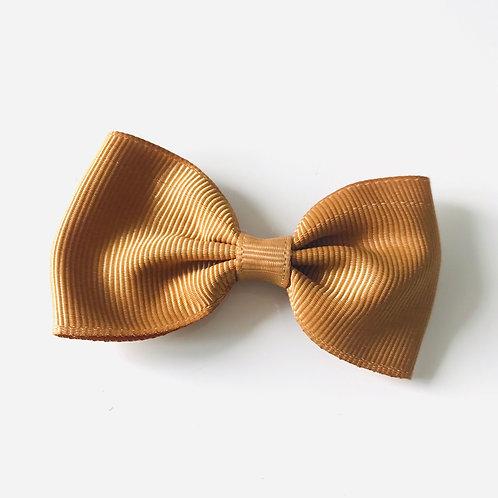 La petite surprise Couture Haarspange Schleife Caramel