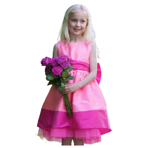 Holly Hastie - Florence Candy Rosa Taftschleife  Partykleid