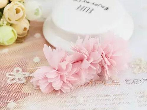 La petite surprise Couture Haarspange Blumen Rosa