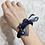 Thumbnail: La petite surprise Couture Crystal Haargummi / Armband Dunkelblau