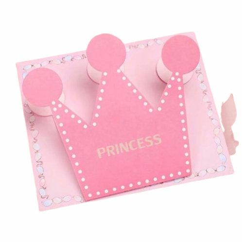 La petite surprise Couture Baby Grußkarte Princess Krone Rosarot