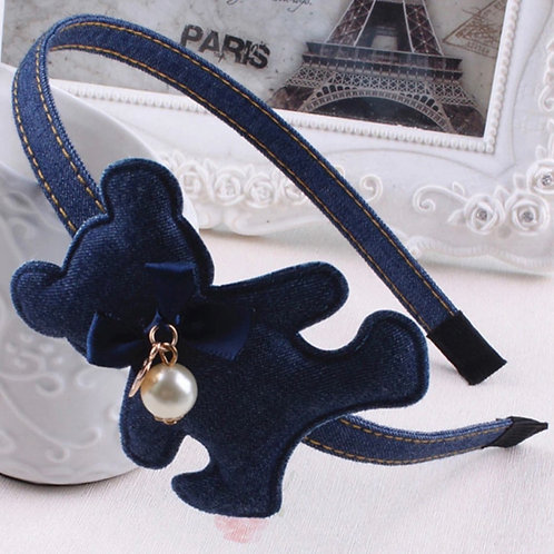 La petite surprise Couture Haarreifen Denim Teddy