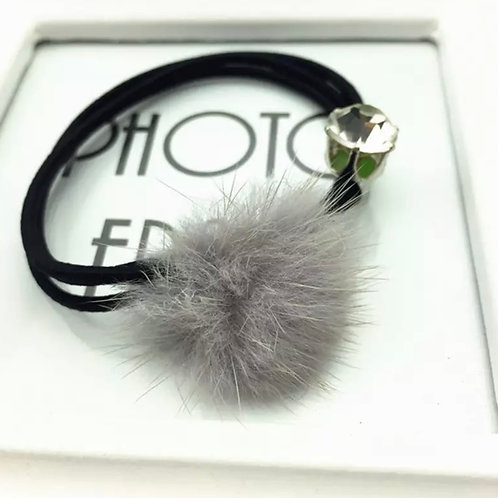 La petite surprise Couture Haargummi / Armband Grau