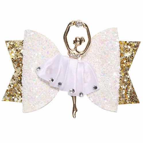 La petite surprise Couture Haarspange Ballerina Weiß