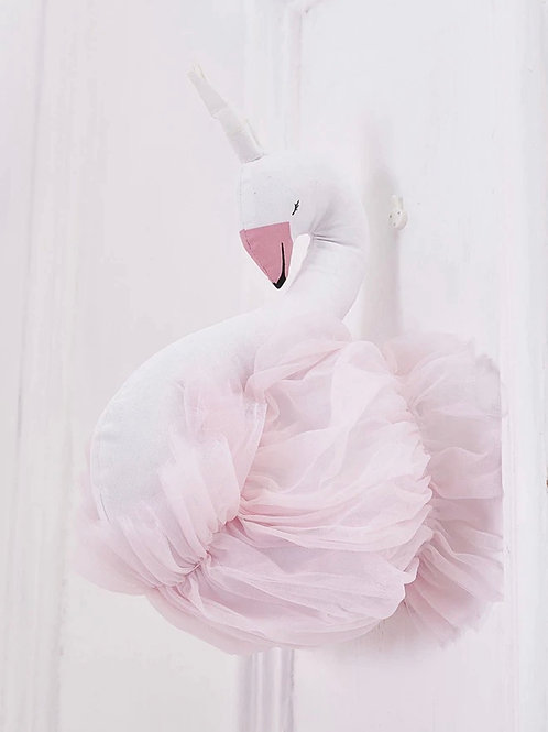 La petite surprise Couture Wanddeko Schwan Rosa