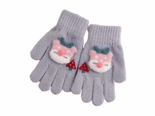 La petite surprise Couture Handschuhe Grau Gr.4-7 Jahre