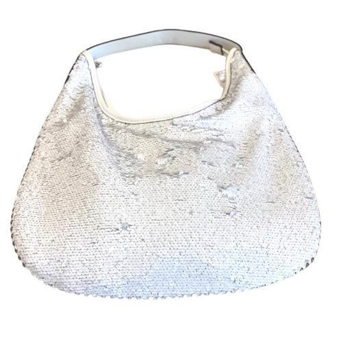 La petite surprise Couture Pailletten Tasche Weiß