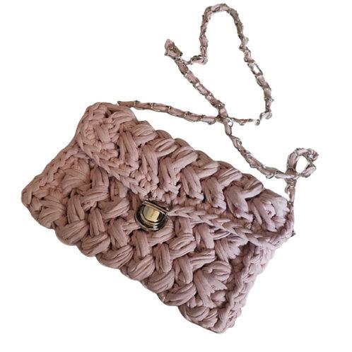 La petite surprise Couture Grobstrick-Tasche Rosa
