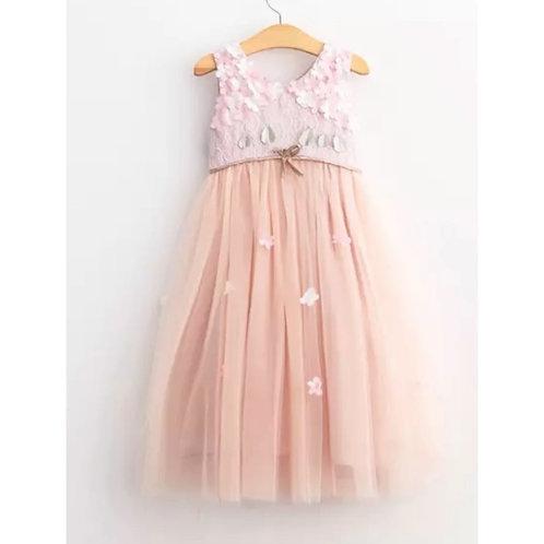 La petite surprise Couture Dress Flowers Rose