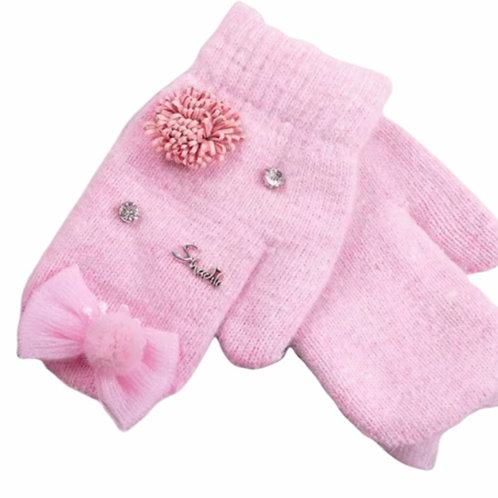 La petite surprise Couture Handschuhe Fäustlinge Rosa