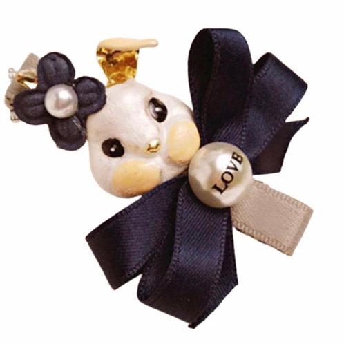 La petite surprise Couture Haarspange Bunny Marineblau
