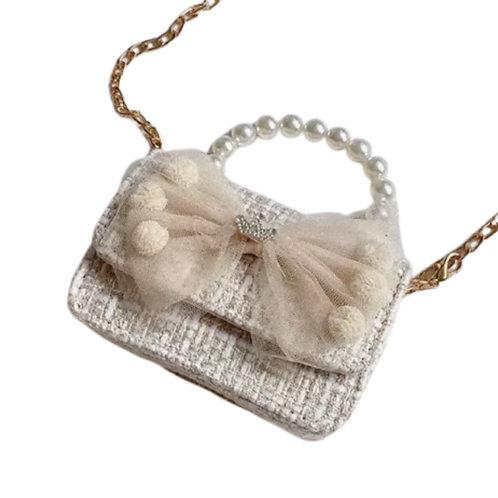 La petite surprise Couture Boucle Täschchen Schleife Beige