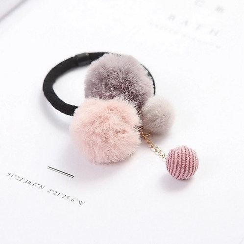 La petite surprise Couture Haargummi Pompoms Rosa
