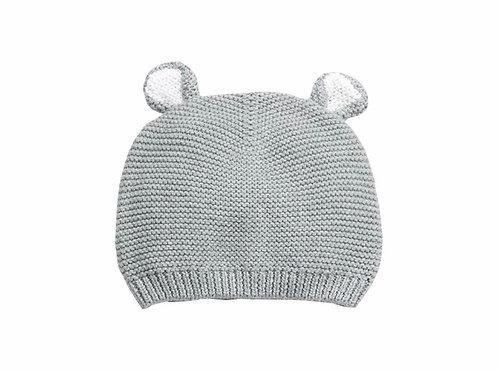La petite surprise Baby Couture Strickmütze Grau