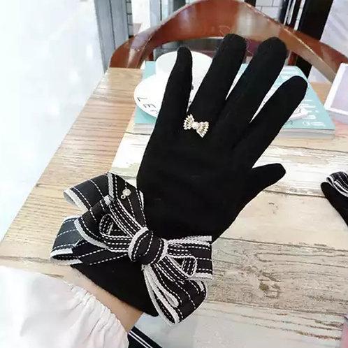 La petite surprise Couture Damen Handschuhe Schwarz