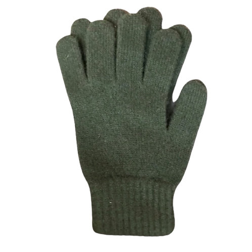 Zwillingsherz - Handschuhe 100% Cashmere Classic Olivgrün