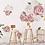 Thumbnail: La petite surprise Couture Wandaufkleber Pfingstrosen Rose 60x45 cm