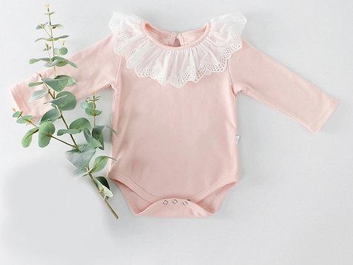 La petite surprise Baby Couture Body Rosa