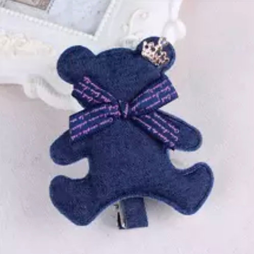 La petite surprise Couture Haarspange Denim Teddy