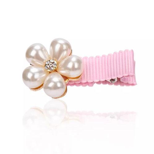La petite surprise Couture Girly Haarspange Blume Perlen