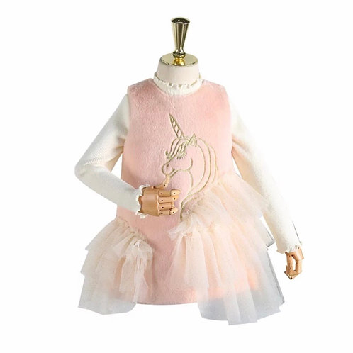 La petite surprise Couture Kleid Einhorn Rosa