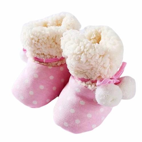 La petite surprise Couture Baby Booties Pink Gr. 3-9 Monate