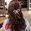 Thumbnail: La petite surprise Couture Haarspange Perlen Schleife 9 cm