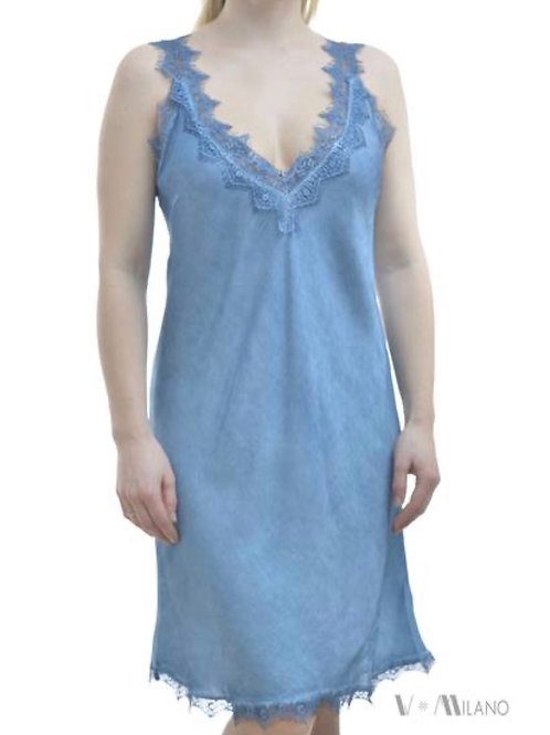 V Milano Spitzentop / Unterkleid Melinda Eisblau Gr.S/M
