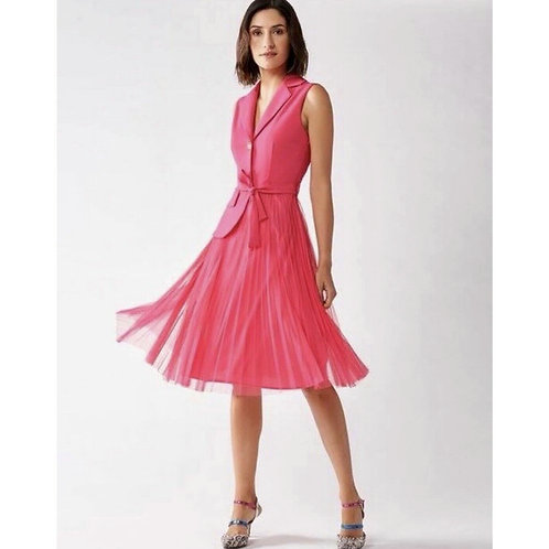Rinascimento Kleid mit Plisee-Rock Pink
