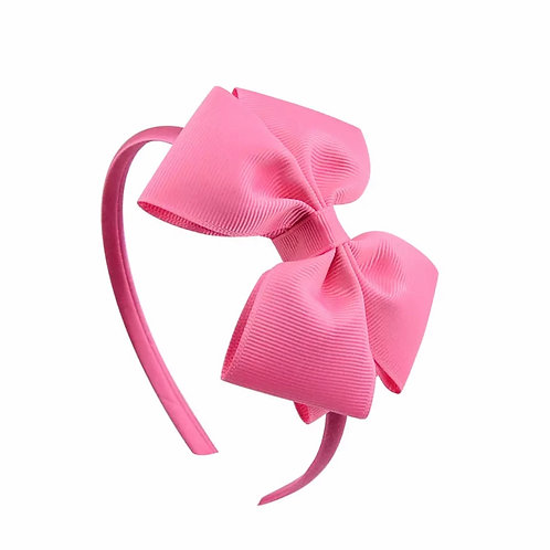 La petite surprise Couture Haarreifen Schleife Candypink