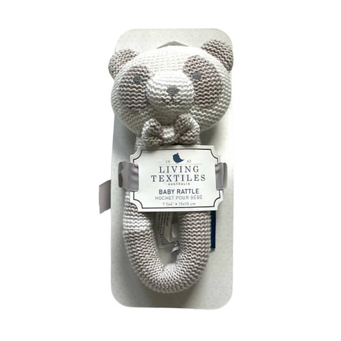 Living Textiles Knitted Baby Rattle Patty Panda