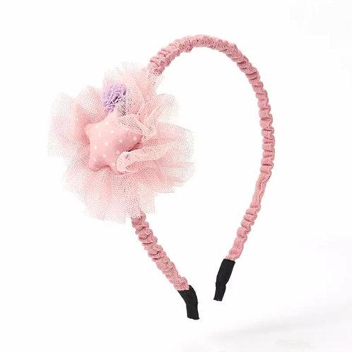 La petite surprise Couture Haarreifen Rosa Stern