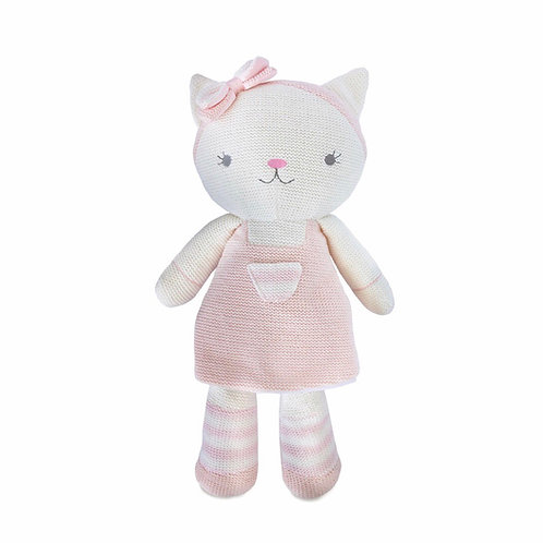 Living Textiles Knitted Toy Ava Cat 38 cm