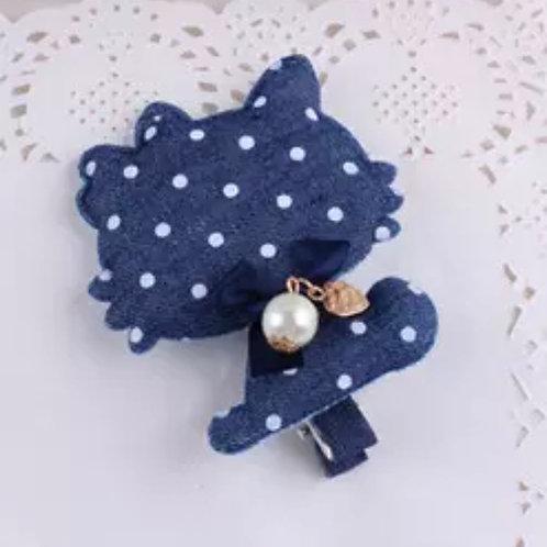 La petite surprise Couture Haarspange Denim Hello Kitty