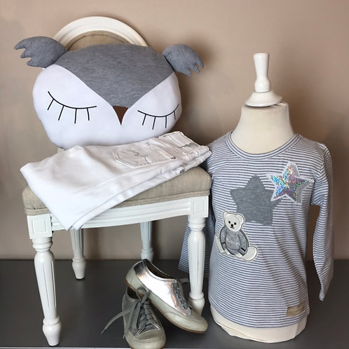 La petite surprise Couture Shirt Grey Star
