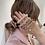 Thumbnail: La petite surprise Couture Crystal Haargummi / Armband Champagner