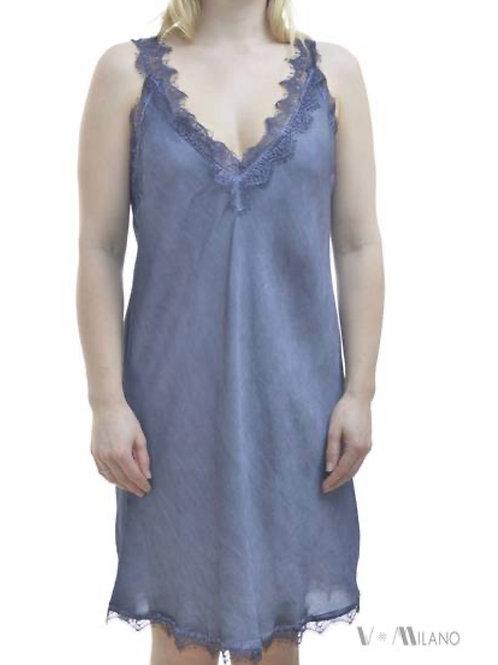 V Milano Spitzentop / Unterkleid  Melinda Jeansblau Gr.S/M