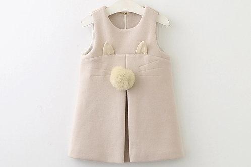 La petite surprise Couture Dress Cat Creme