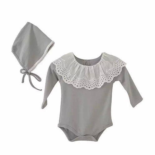 La petite surprise Baby Couture Body Grau
